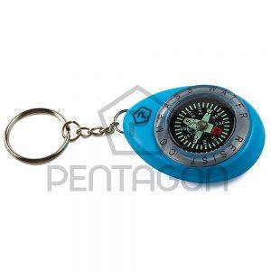 Vodootporni kompas privezak Pentagon- Plavi
