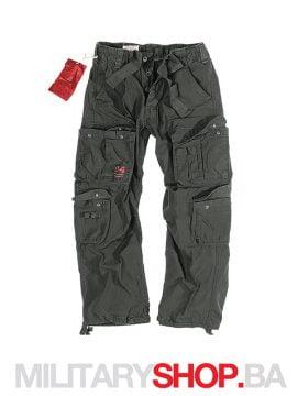 Pantalone 100% pamuk Airborne Surplus crne