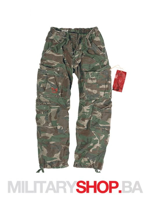 Pantalone maskirne 100% pamuk Airborne Surplus woodland