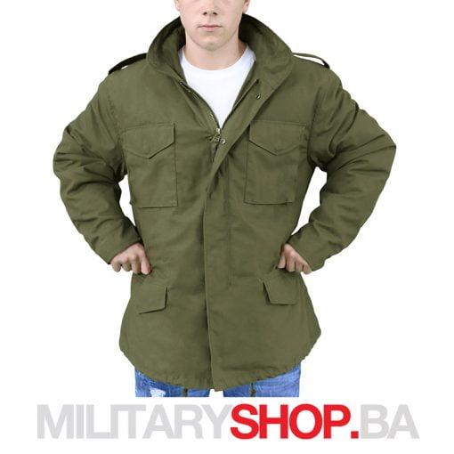 Surplus vojna jakna M65 vijetnamka sa uloškom zelene boje