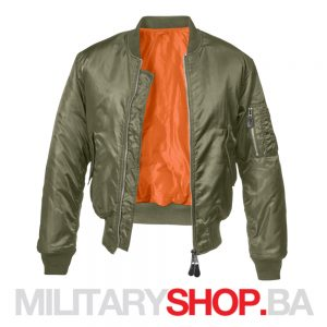 Zelena letačka jakna MA1 Brandit