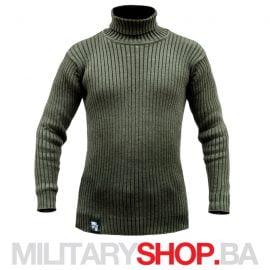 Zeleni džemper sa visokom kragnom Armoline Army