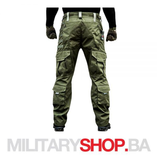 Olive taktičke hlače od pamuka Armoline Storm