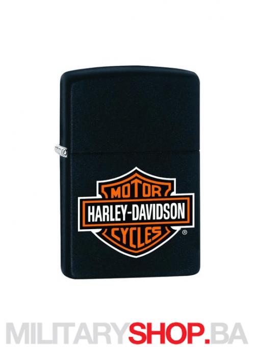 Crni upaljač Zippo Harley Davidson dizajn