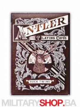 Karte za igranje Antler Deep Maroon