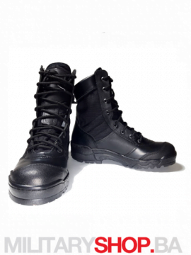 Zimske kožne čizme crne Garsing Grom