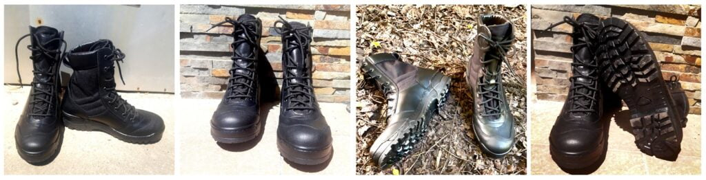 Kožne čizme crne boje Garsing Grom