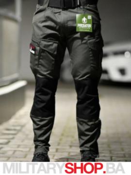 Taktičke pantalone tamnozelene-crne Predator