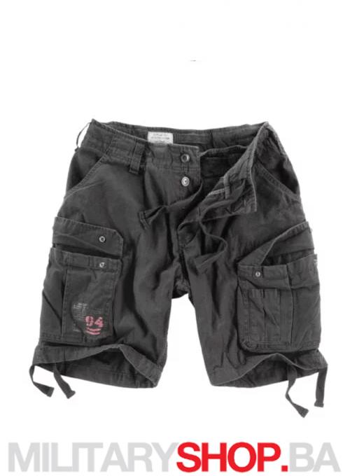 Surplus bermude Raw Vintage 100% pamuk crna boja